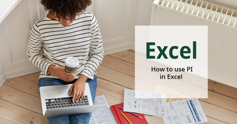 How to use PI in excel