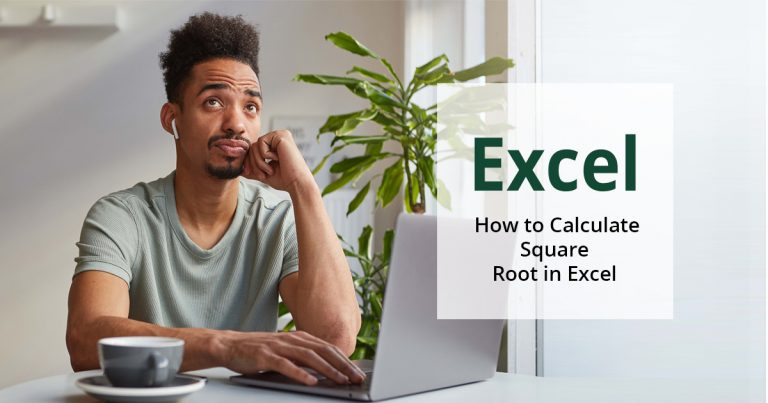 how to calculate square roots in Excel