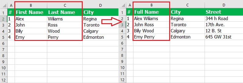 How to merge cells in excel.