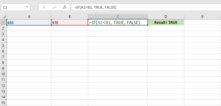 How to use the if function in excel