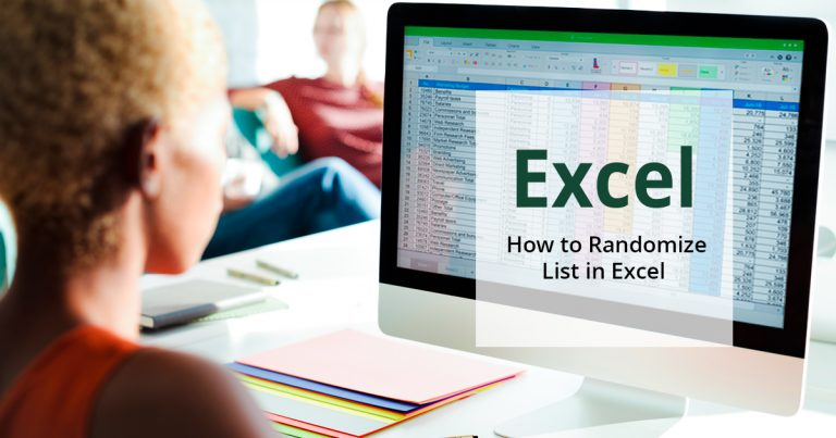 how to randomize lists in Excel and shuffle data