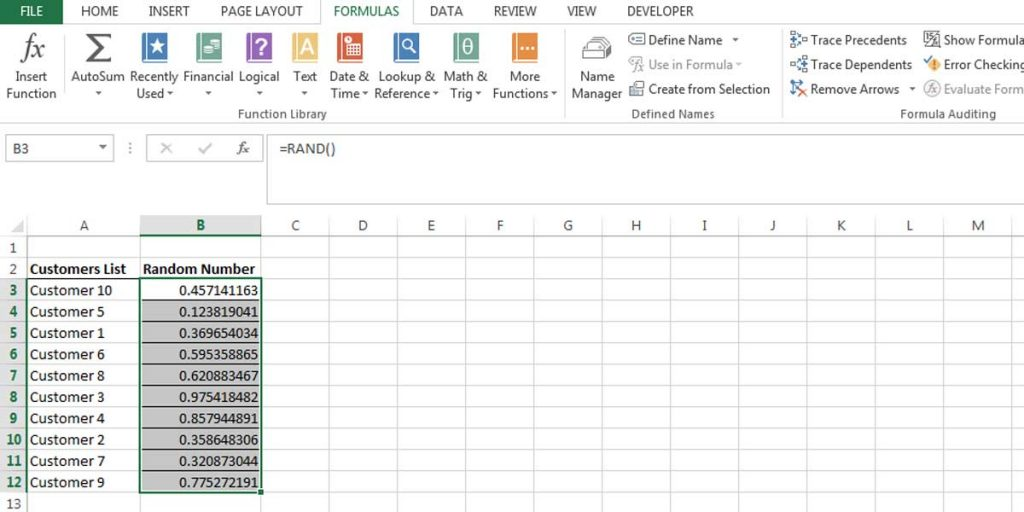 By sorting the numbers you can see that the list of customers will be sorted differently too.