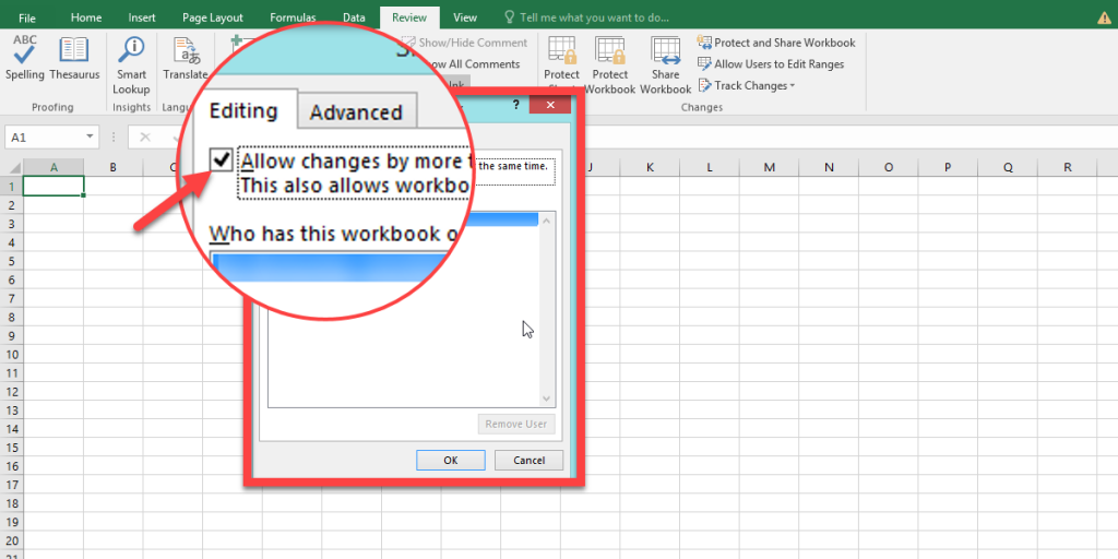How to share Excel workbook and allow users to change it?