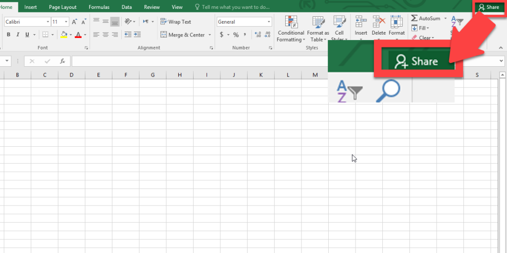 To invite your colleague and share the file, click on the Share tab from the left of the menu tab.